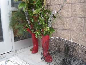 Dec Crabpot & Red Boots By Ann Landis