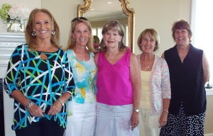 Incoming Officers 2015-2016: President Gayle Todd, 1st Vice President Donna Aycock, 3rd Vice President Lillian West, Secretary Sharon Butler, Treasurer Gina Martin. (Not pictured:  2nd Vice President Carolyn Metrakos)