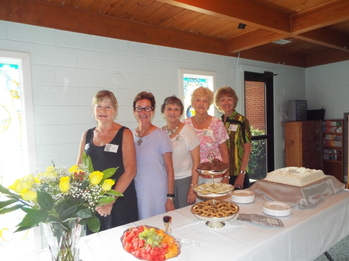 Hostesses from L to R are: Lillian West, Connie Jo Boyte, Donna Blume, Jean Smithson and Joyce Lanning