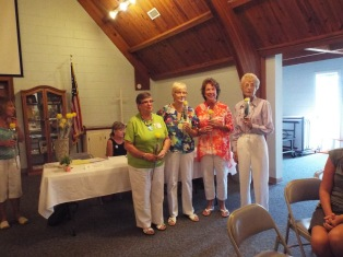 Golden Gardners Jane Ivey, Marlene Hahn, Peggy Schiavone and Sandy Miller