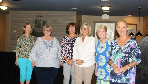2018 - 2019 HBBC Executive Board: Treasurer Donna Aycock, Secretary Vicki Myers, Third Vice President Janice Sullivan, Second Vice President Cecelia Weston, First Vice President Becky Willis, President Gayle Todd.